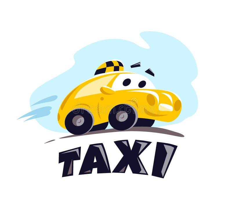 Illustrazione piana dell'automobile del taxi di vettore royalty illustrazione gratis