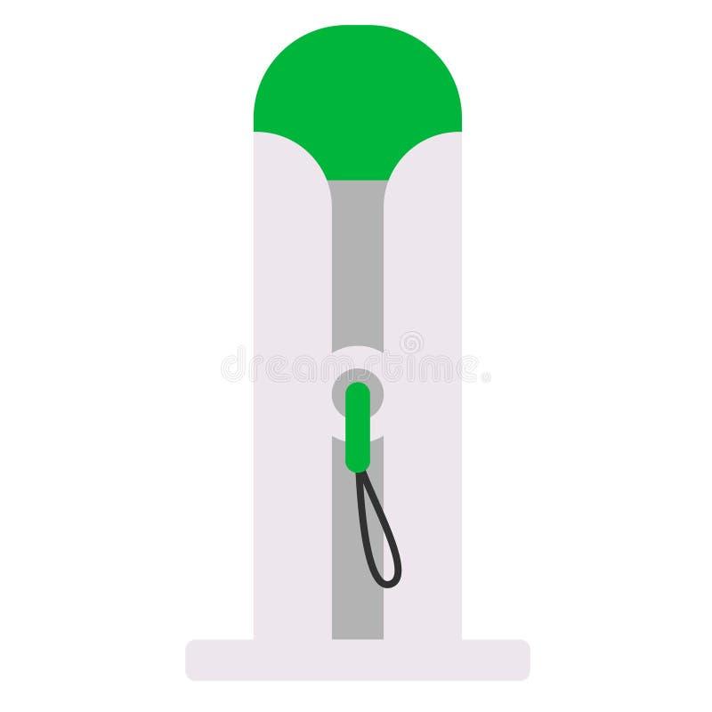 Illustrazione piana della pompa di benzina su bianco royalty illustrazione gratis