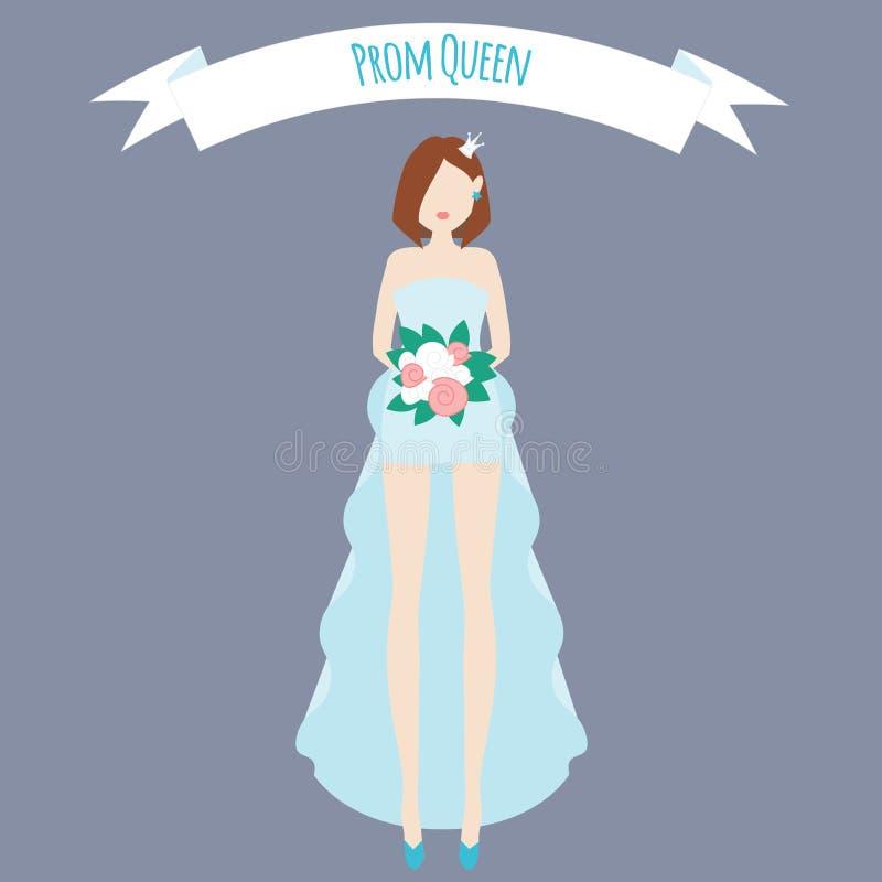 Illustrazione piana della regina di promenade royalty illustrazione gratis