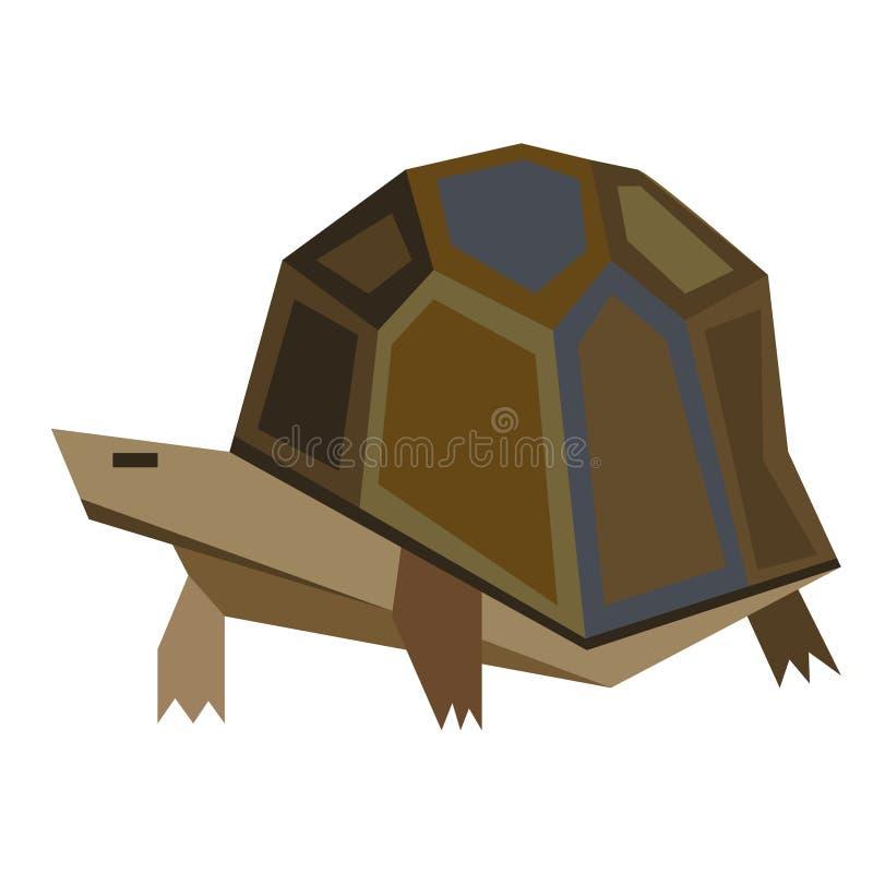 Illustrazione piana della tartaruga illustrazione di stock