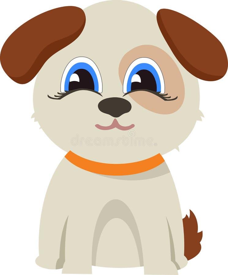 Illustrazione piana di dogVector divertente royalty illustrazione gratis