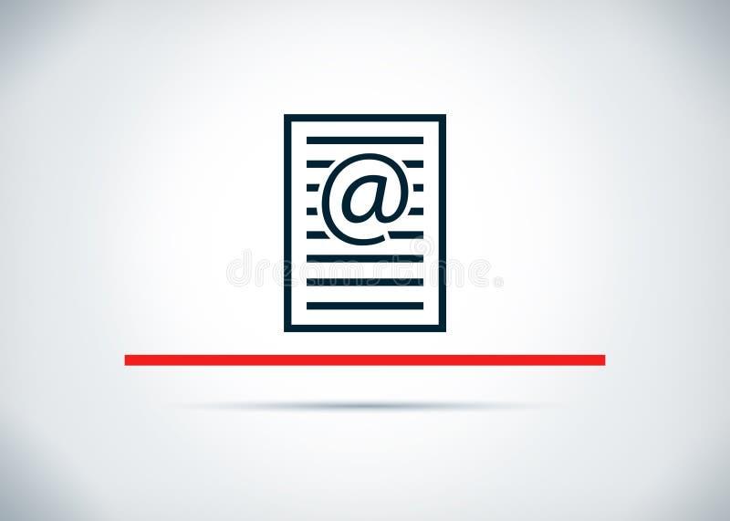 Illustrazione piana di progettazione del fondo dell'estratto dell'icona della pagina di indirizzo email illustrazione vettoriale