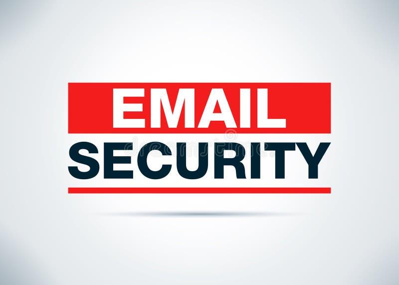 Illustrazione piana di progettazione del fondo dell'estratto di sicurezza del email illustrazione vettoriale