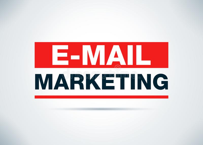 Illustrazione piana di progettazione del fondo dell'estratto di vendita del email illustrazione di stock