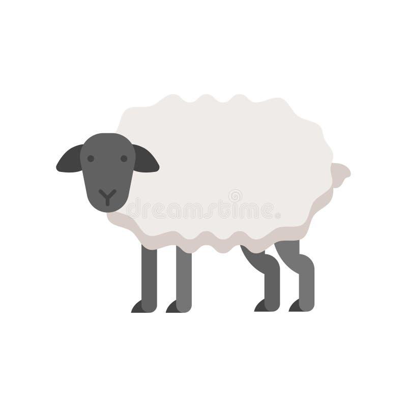 Illustrazione piana di stile di vettore delle pecore illustrazione vettoriale
