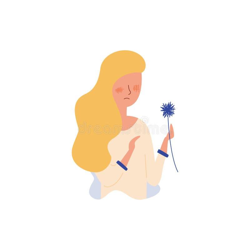 Illustrazione piana di vettore dell'allergia stagionale royalty illustrazione gratis