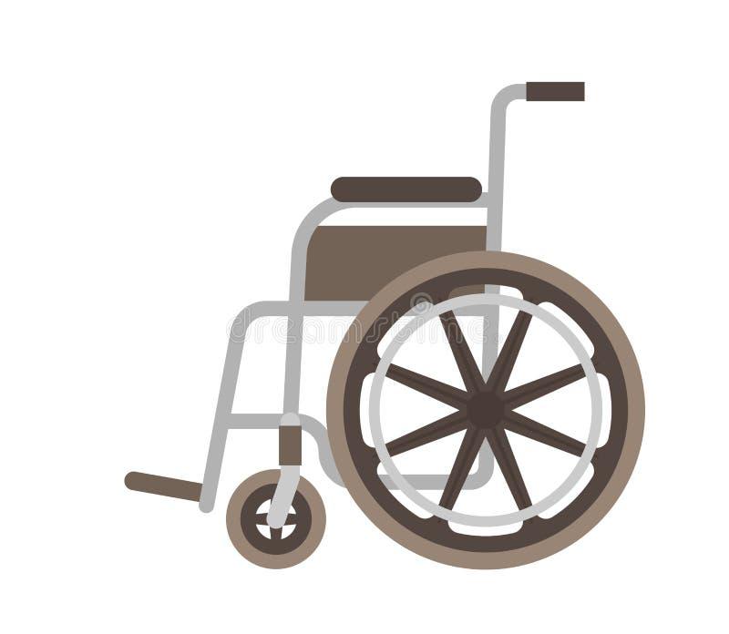 Illustrazione piana di vettore della sedia a rotelle illustrazione vettoriale