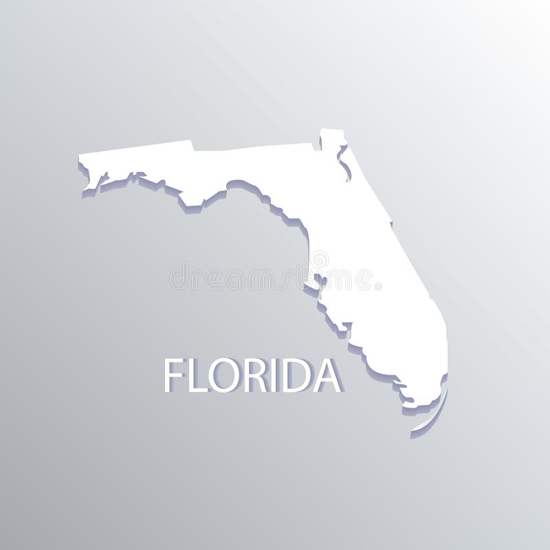 Illustrazione piana di vettore di logo della mappa dello stato di Florida royalty illustrazione gratis