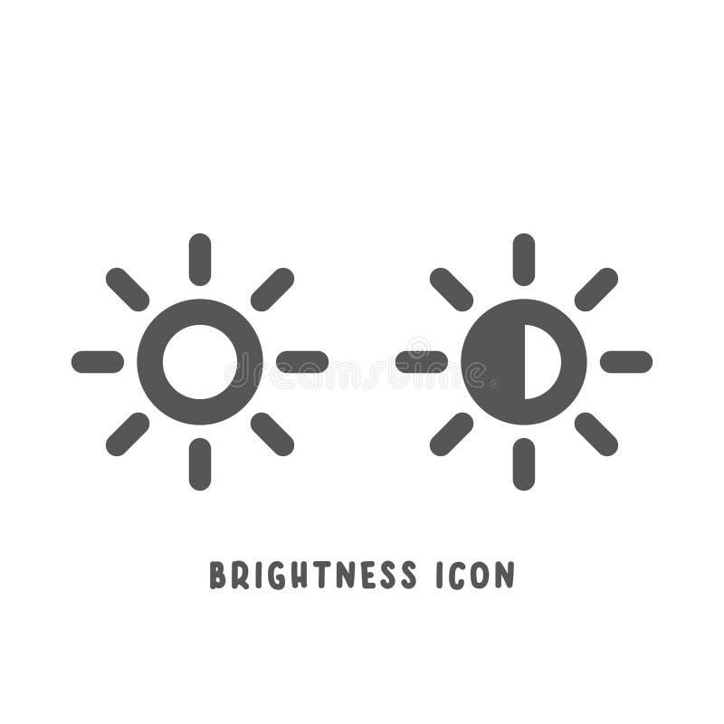 Illustrazione piana semplice di vettore di stile dell'icona di luminosità illustrazione di stock