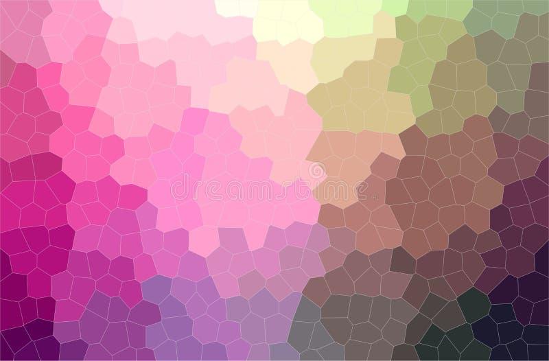 Illustrazione piccolo del fondo porpora e marrone della pittura di esagono, digitalmente generata illustrazione vettoriale