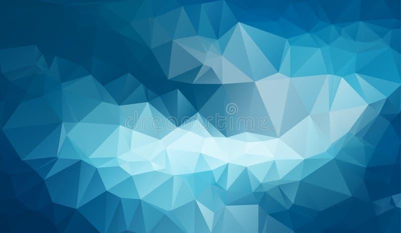 Illustrazione poligonale blu scuro, che consistono dei triangoli Fondo geometrico nello stile di origami con la pendenza Desi tri illustrazione di stock