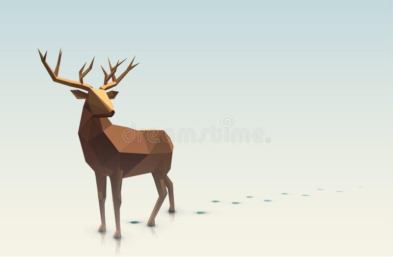 Illustrazione poligonale del maschio illustrazione di stock
