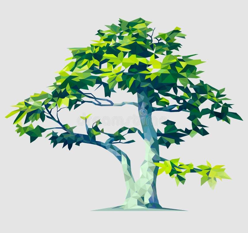 Illustrazione poligonale dell'albero di vettore illustrazione vettoriale