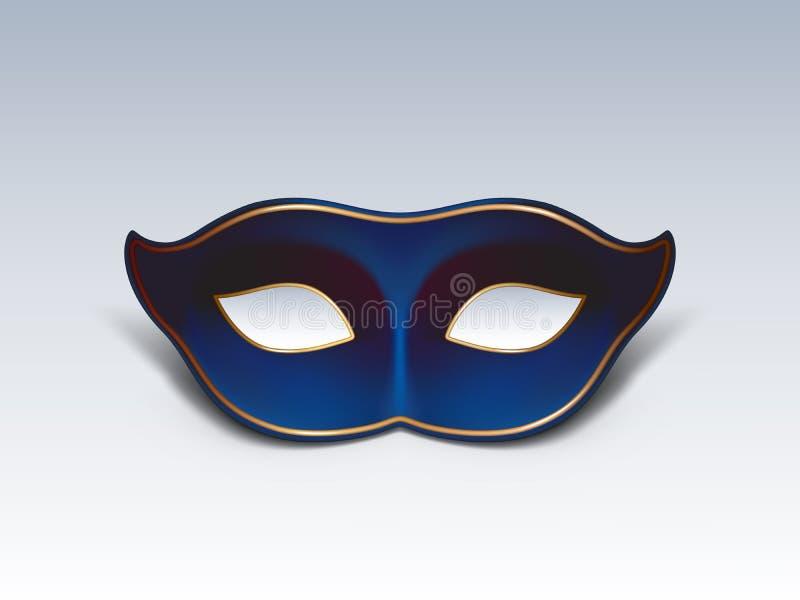 Illustrazione realistica blu di vettore della maschera di protezione royalty illustrazione gratis