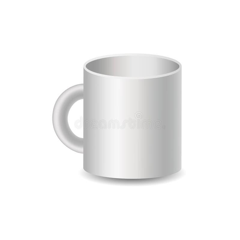 Illustrazione realistica della tazza, immagine di vettore illustrazione vettoriale