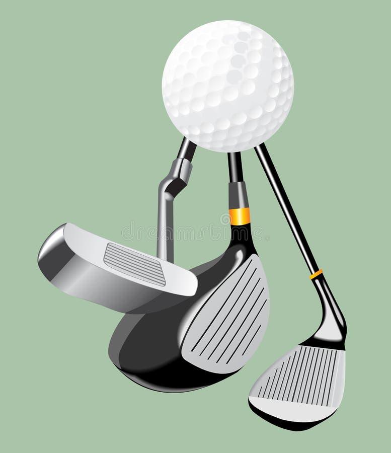 illustrazione realistica di vettore Club di golf e palla putter illustrazione di stock