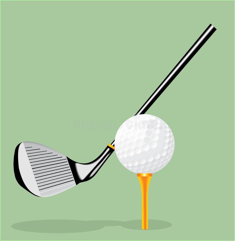 illustrazione realistica di vettore Club di golf e sfera di golf Putter di golf illustrazione di stock