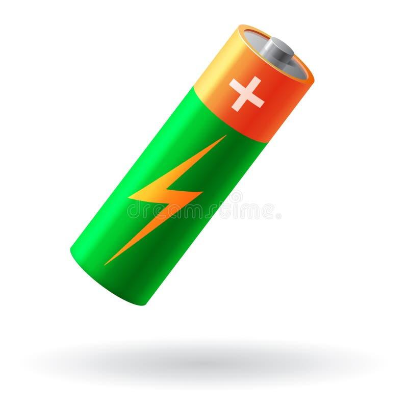 Illustrazione realistica di vettore della batteria illustrazione di stock
