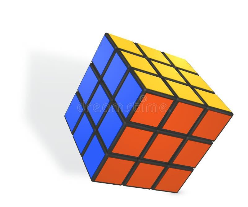 Illustrazione realistica editoriale di vettore del cubo di Rubik s royalty illustrazione gratis