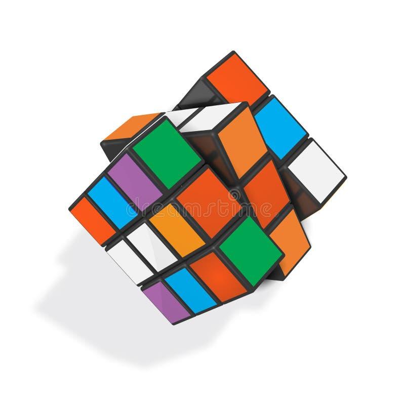 Illustrazione realistica editoriale di vettore del cubo di Rubik s illustrazione vettoriale