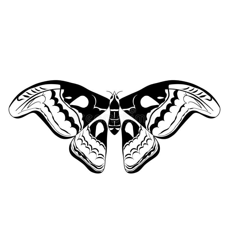 Illustrazione regale del lepidottero immagini stock