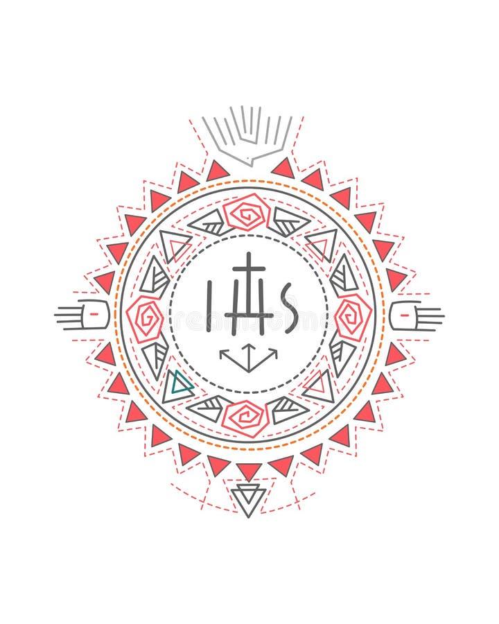 Illustrazione religiosa di simboli royalty illustrazione gratis
