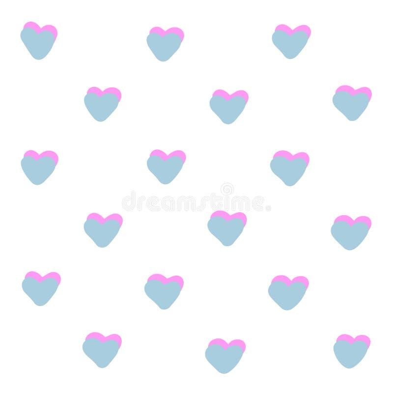 Illustrazione rosa blu del fondo dei cuori della caramella dolce Rosa rossa Coppia l'insegna di evento di giorno delle nozze, pro illustrazione di stock