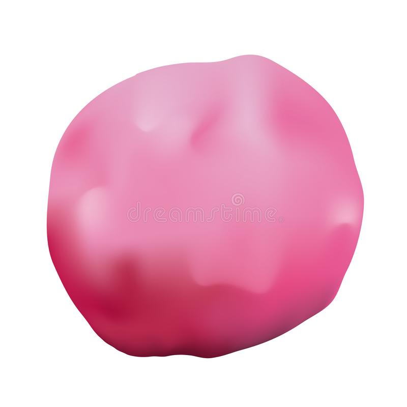 Illustrazione rosa dell'argilla royalty illustrazione gratis