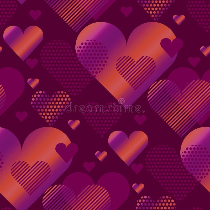 Illustrazione rosa di vettore di concetto del cuore di amore royalty illustrazione gratis