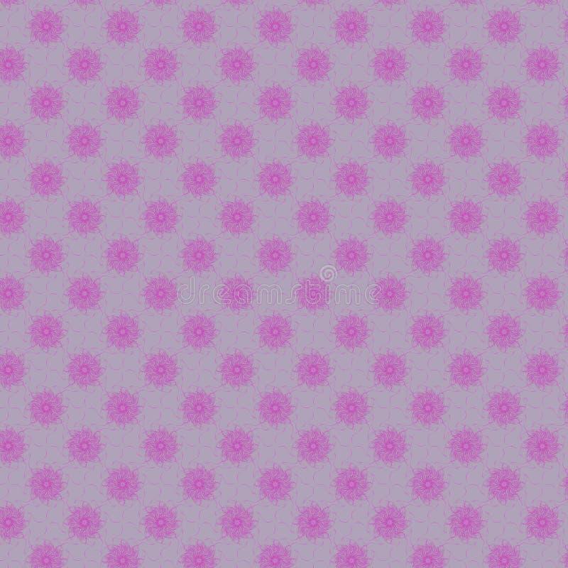illustrazione rosa e porpora del modello di forme dei fiori royalty illustrazione gratis