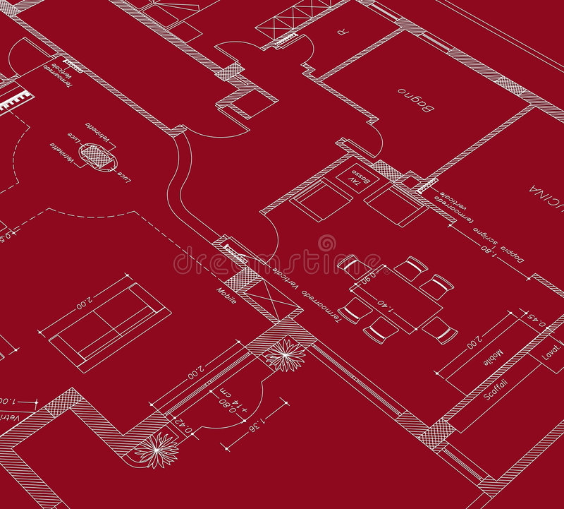 Illustrazione rossa cad royalty illustrazione gratis