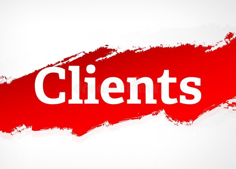 Illustrazione rossa del fondo dell'estratto della spazzola dei clienti illustrazione di stock