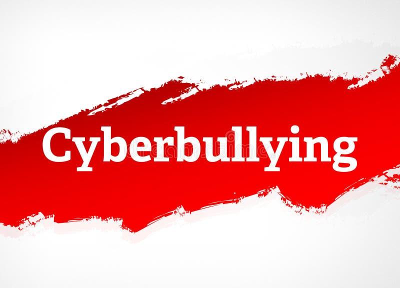 Illustrazione rossa del fondo dell'estratto della spazzola di cyberbullismo royalty illustrazione gratis