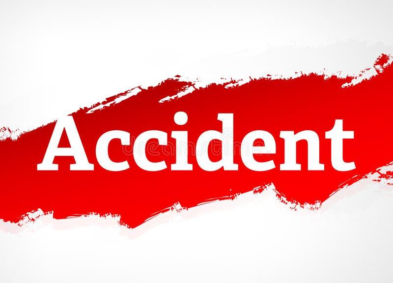 Illustrazione rossa del fondo dell'estratto della spazzola di incidente illustrazione vettoriale
