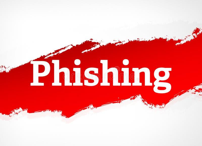 Illustrazione rossa del fondo dell'estratto della spazzola di Phishing illustrazione di stock