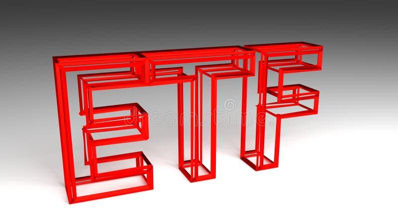 Illustrazione rossa del segno 3D di FEDERAZIONE illustrazione vettoriale
