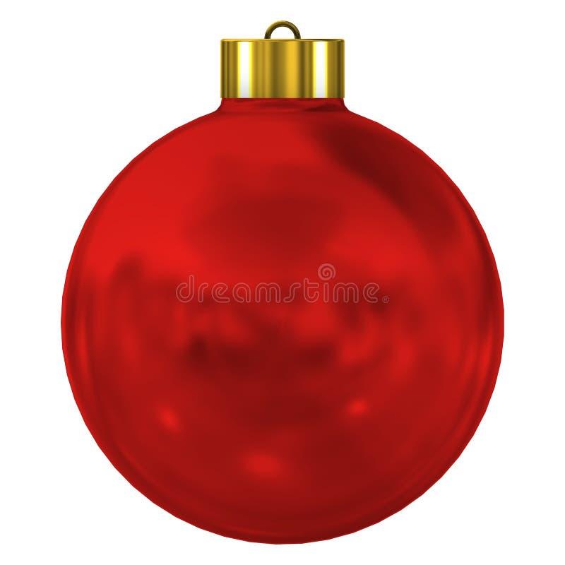 Illustrazione rossa dell'ornamento 3d di Natale fotografia stock libera da diritti