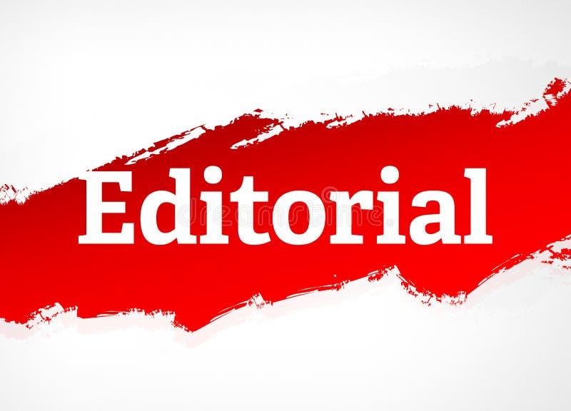Illustrazione rossa editoriale del fondo dell'estratto della spazzola royalty illustrazione gratis