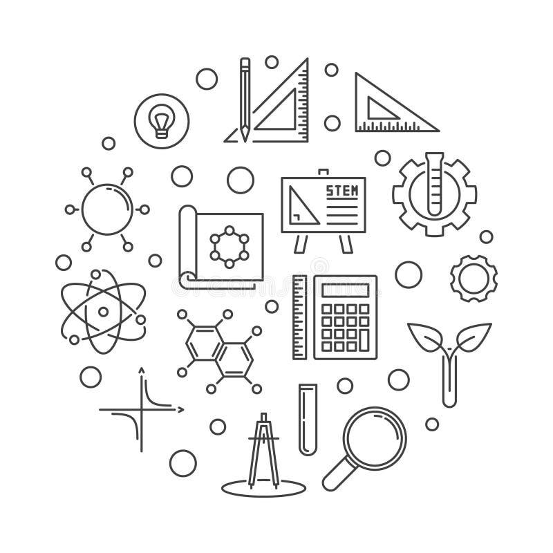 Illustrazione rotonda del profilo semplice di concetto del GAMBO di vettore royalty illustrazione gratis