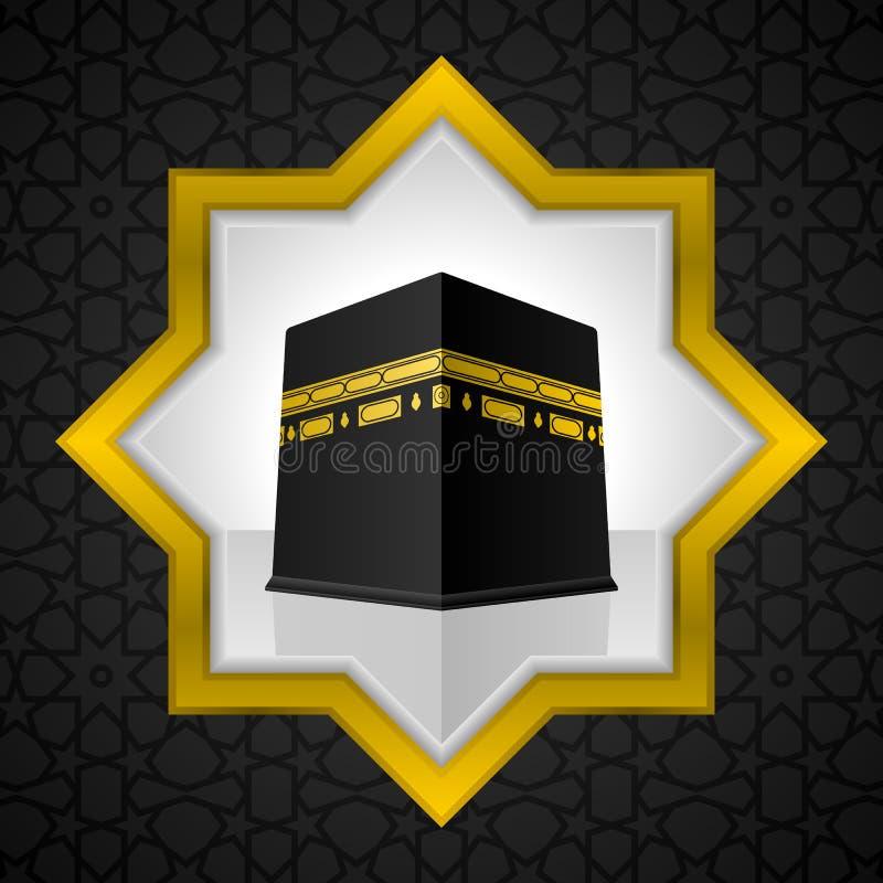 Illustrazione santa di Kaaba, progettazione islamica royalty illustrazione gratis