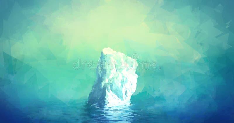 Illustrazione scenica dell'iceberg illustrazione di stock