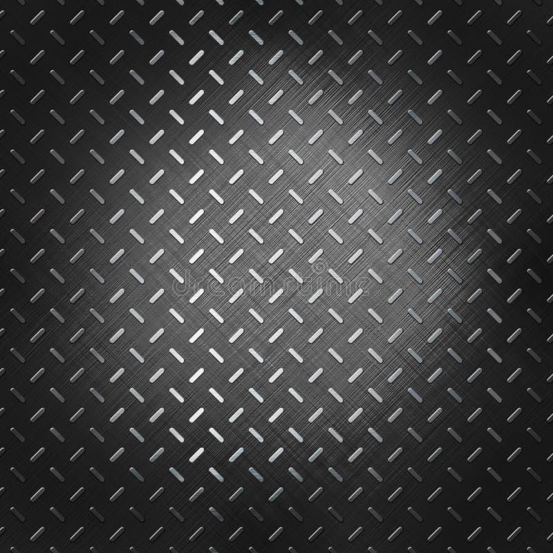 Illustrazione scura del fondo del metallo di sollievo illustrazione vettoriale