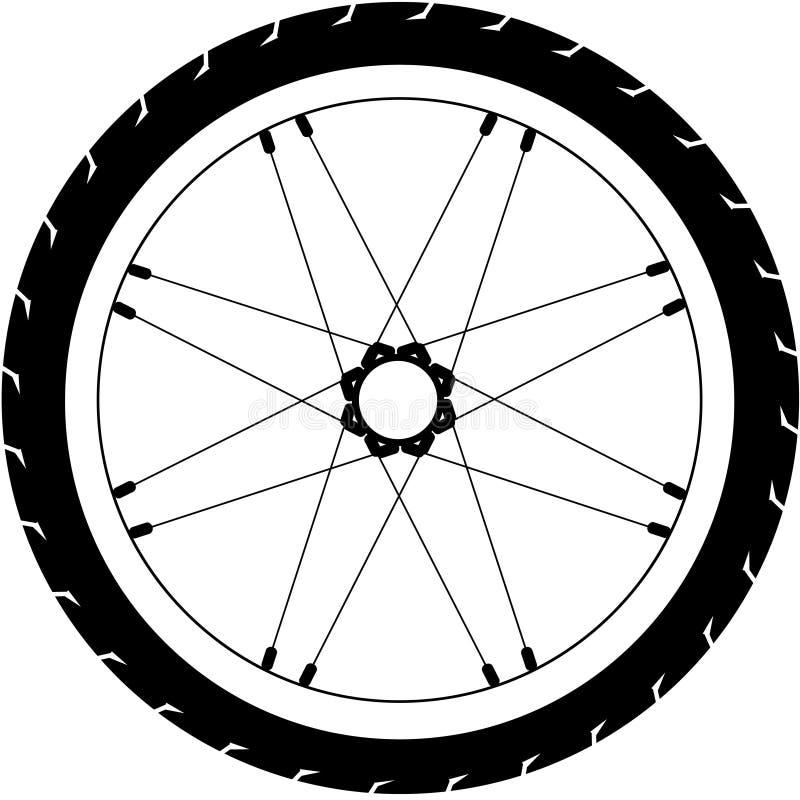 Illustrazione semplice della ruota della bici di vettore immagini stock libere da diritti