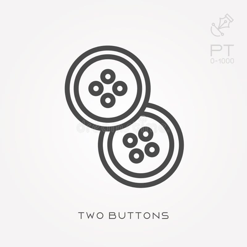 Illustrazione semplice di vettore con capacit? di cambiare Linea bottoni dell'icona due illustrazione vettoriale