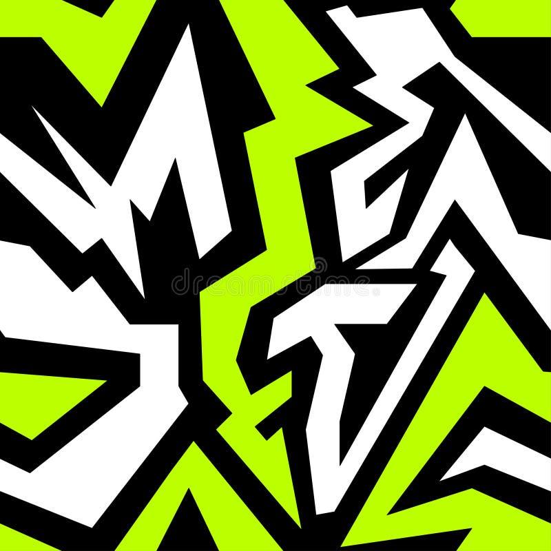 Illustrazione senza cuciture colorata di vettore di struttura dei graffiti royalty illustrazione gratis
