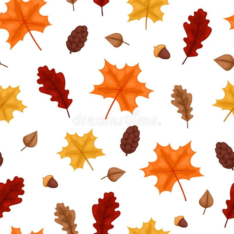Illustrazione senza cuciture del modello della foglia di autunno illustrazione vettoriale