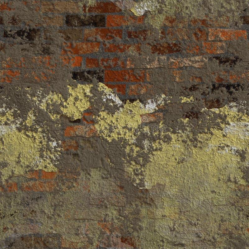 Illustrazione senza cuciture di struttura o del fondo del vecchio muro di mattoni illustrazione vettoriale
