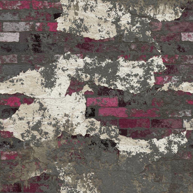 Illustrazione senza cuciture di struttura o del fondo del vecchio muro di mattoni illustrazione di stock