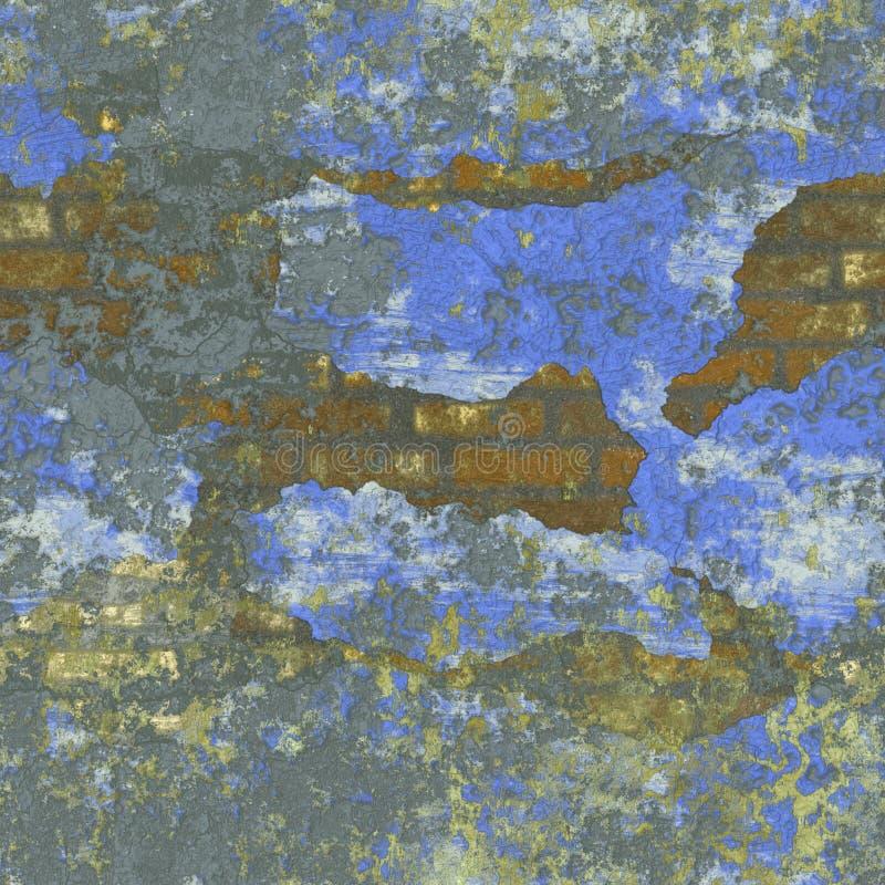 Illustrazione senza cuciture di struttura o del fondo del vecchio muro di mattoni royalty illustrazione gratis