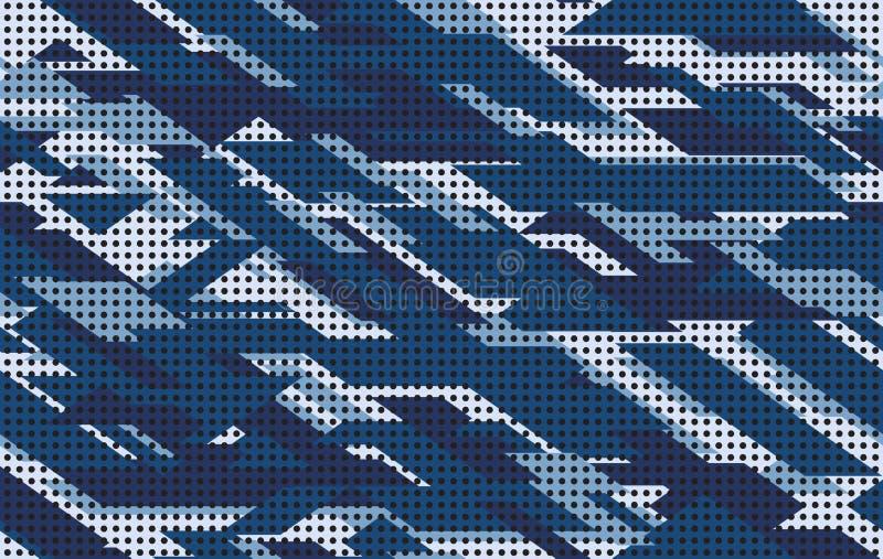 Illustrazione senza cuciture di vettore del fondo del modello del cammuffamento Struttura moderna geometrica dell'estratto di Dig royalty illustrazione gratis